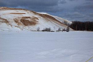 Dune Climb in the Winter, Sleeping Bear Dunes ...