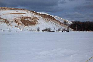 Dune Climb in the Winter, Sleeping Bear Dunes ...