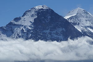 The Eiger from the east side (and Mönch behind)