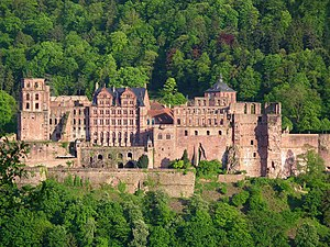 Heidelberg castle, total view from NNW