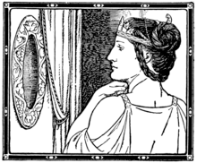 Snow White: The Evil Queen in front of the Magic Mirror in a 1916 illustration