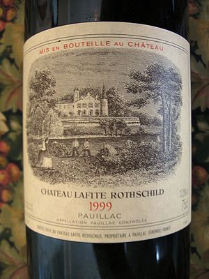Chateau Lafite Rothschild Label for the 1999 v...