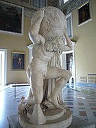 The Farnese Atlas, a 2nd century Roman copy of a Hellenistic work (Naples)