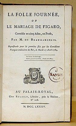 La Folle Journée Ou Le Mariage De Figaro : folle, journée, mariage, figaro, Mariage, Figaro, Wikipédia
