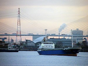 The Port of Nagoya, in Nagoya, Japan.
