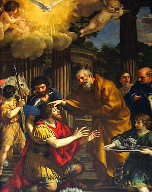 Ananias restoring the sight of Saint Paul