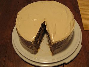 Spice cake with sea foam frosting