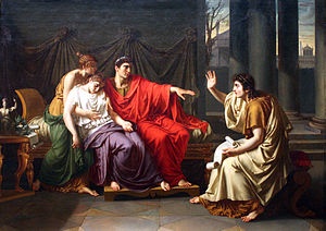 English: Virgil Reading the Aeneid to Augustus...