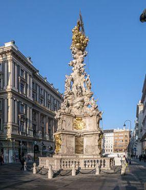 Wien Graben Pestsäule Ostseite