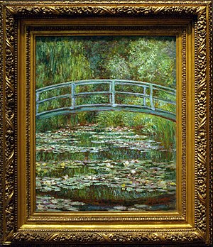 Painting of Monet in the MET, NY