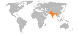 インドの位置
