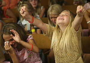 Children at a Gospel presentation in Eau Clair...