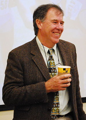 English: Dr. Tim Noakes at the Department of P...
