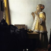 """Woman with a Pearl Necklace"" by Johannes Vermeer"