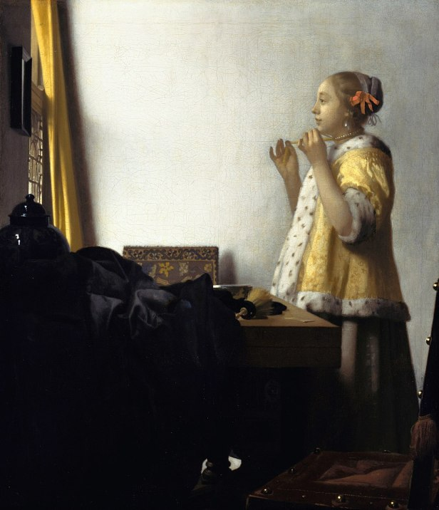 Jan Vermeer van Delft - Young Woman with a Pearl Necklace