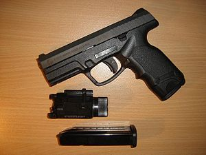 Steyr M9-A1 semi-automatic pistol with magazin...