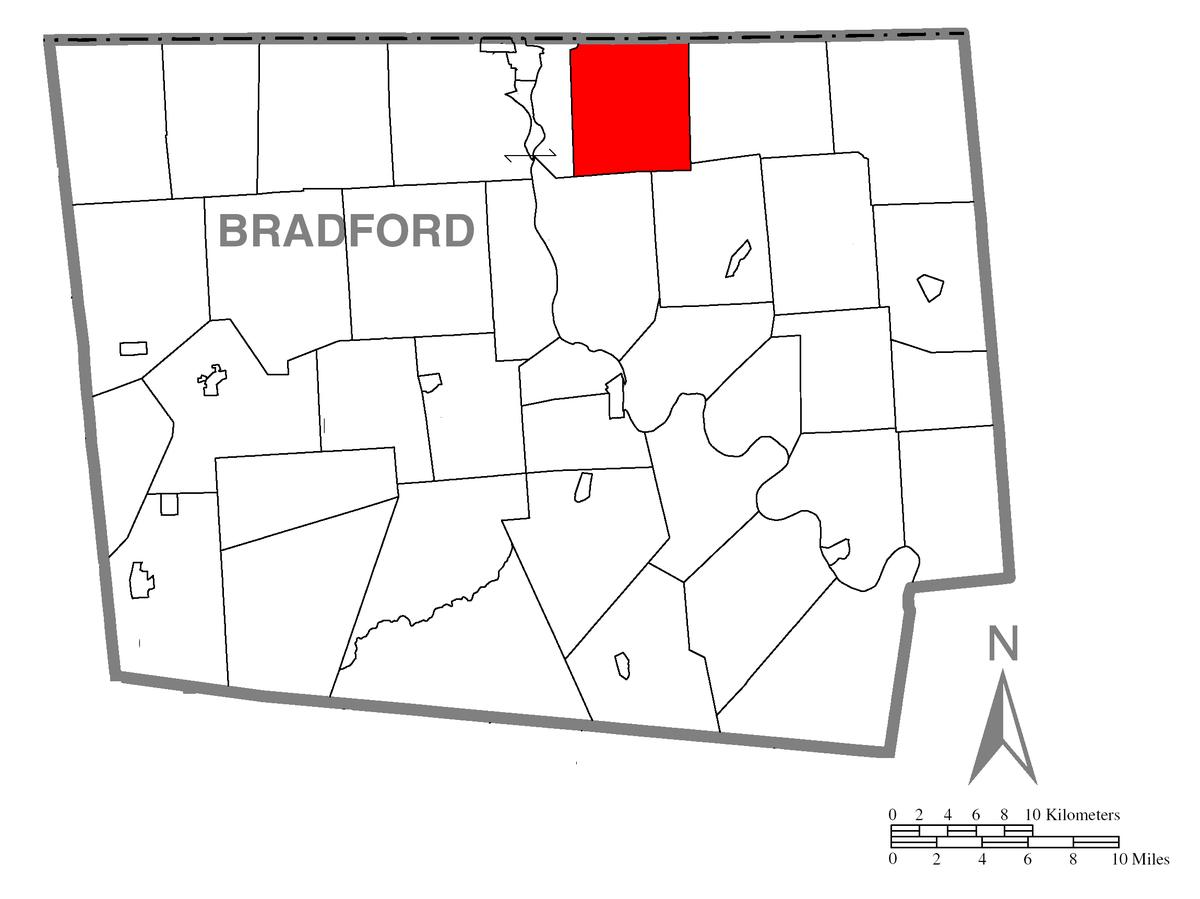 Tioga County Township Map