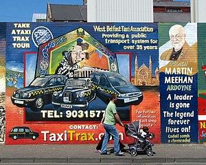 Mural, Falls Road, Belfast [6] Another mural o...