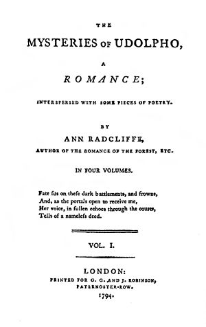 """Cover: """"Mysteries of Udolpho"""" (Ann R..."""