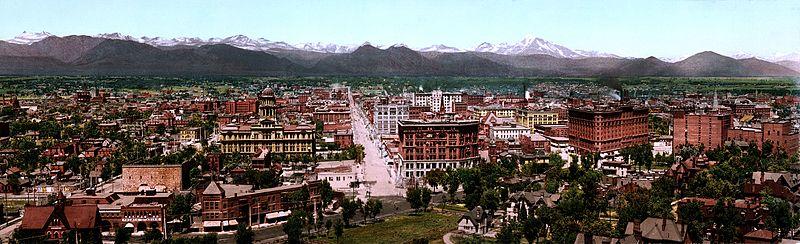 Panorama of Denver, Colorado, 1898