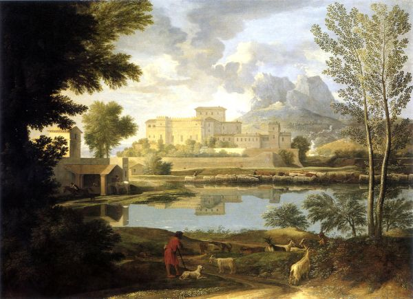 Nicolas Poussin Landscape with a Calm