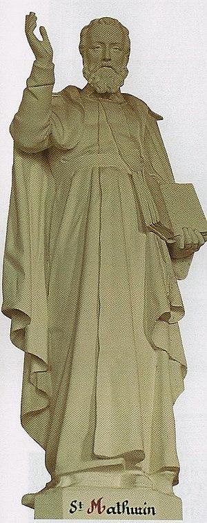 Statue de Saint Mathurin dans l'église de Tess...