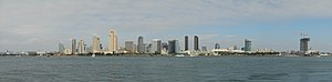 The Skyline of Downtown San Diego, California,...
