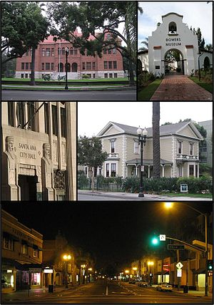 English: Collage of photos in Santa Ana, Calif...