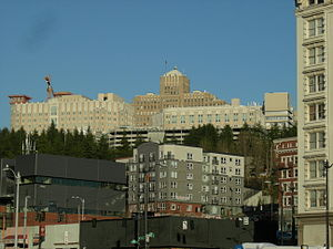 Harborview Hospital on First Hill seen from Pi...