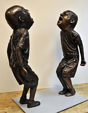 English: Sculpture by artist Jason Thompson
