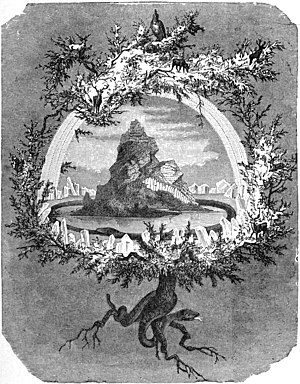 "Caption reads ""The Ash Yggdrasil"". T..."