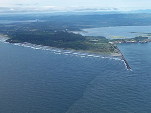 English: Cape Disappointment, Washington, at t...