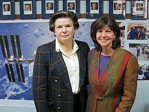 Catherine Coleman and Valentina Tereshkova at ...