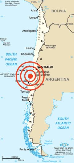 harta cutremur chile