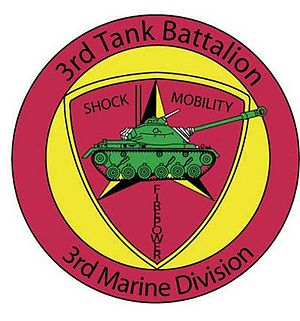 English: Patch of the 3rd Tank Battalion of th...
