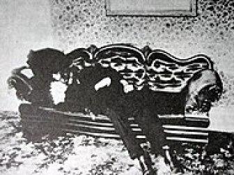 Man lying on a sofa