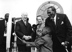 Jomo Kenyatta and President of West Germany He...