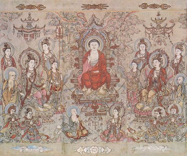 The Sakyamuni Buddha, by Zhang Shengwen, c.117...