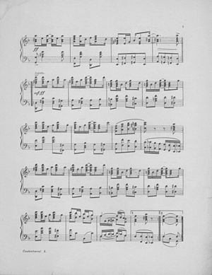 """Contentment Rag"" (sheet music) Page..."