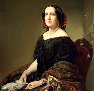 Español: Retrato de Gertrudis Gómez de Avellan...