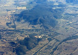 English: Aerial view of Glenrowan, Victoria