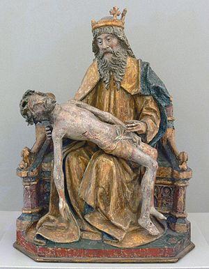 de: Gottvater mit dem Leichnam Christi, Nieder...