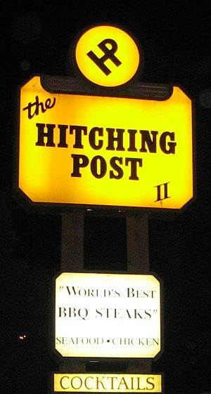 English: The Hitching Post II Restaurant in Bu...