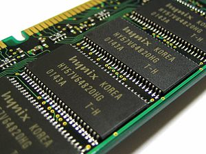 Hynix HY57V64820HG is 4 banks × 2M × 8 bit Syn...