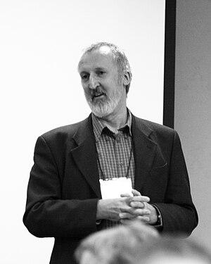 English: Historian of science John Henry, duri...