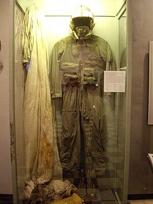 John McCain's flight suit as shown at the Hano...