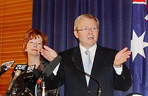 English: Kevin Rudd (right) and Julia Gillard ...