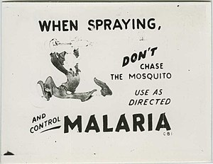 """When spraying, don't chase the mosquito,..."