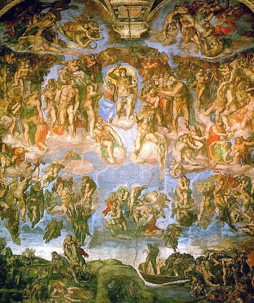 Imagen:Michelangelo - Fresco of the Last Judgement.jpg