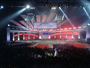 A view of the Stage at the Primerica Financial...